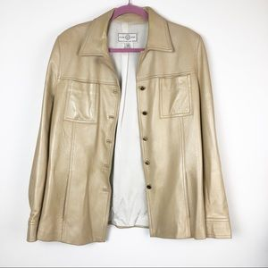 St. John Sport Champagne leather jacket